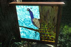 Chassis Recyclé Tablette Crochet Paon  WindowShelf Hook Peacock