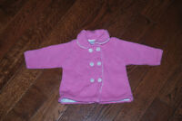 Hartstrings Boutique Pink Baby Knitted Peacoat - 0-3 Months