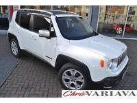 2015 Jeep Renegade LIMITED ** WHITE WITH BLACK ROOF ** Petrol white Manual