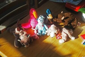 "**8 Beanie Babies & Beanie Popper by ""TY"" For Sale *in MINT C"