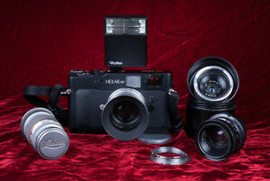 Konica Hexar RF(Leica M mount) kit 4lenses ++