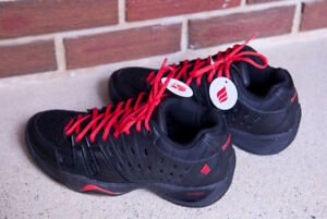 Mens Ektelon T22 Mid Racquetball Shoes Black/Red New Size 8.5