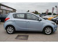 2012 (62) HYUNDAI I20 1.2 ACTIVE 5 DOOR HATCHBACK 84 BHP PETROL MANUAL BLUE