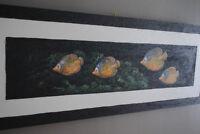 Duo toiles poissons