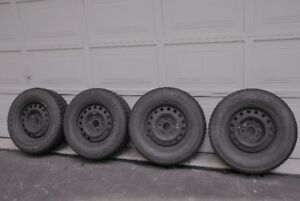4 x 225 x 70 x 16 Avalanche Xtreme winter tires on steel rims