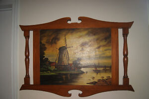 BEAUTIFUL 1939 OIL ON CANVAS PAINTING - WINDMILL BY M.P. DUPONT West Island Greater Montréal image 1