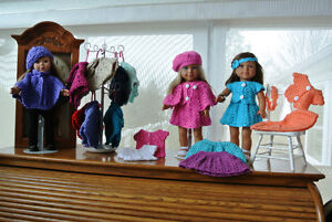 """$5 & $10 Crocheted Outfits for 18"""" Dolls"""
