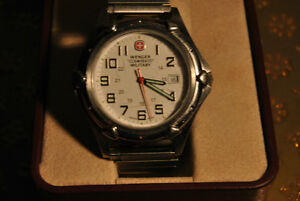 WENGER GENUINE SWISS ARMY MILITARY TIME MEN'S WATCH