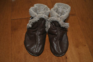 Robeez Brand Soft Sole Booties Brown 6-12 Month Size Peterborough Peterborough Area image 2