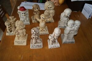 Lot of 10 adorable vintage 1970s figurines Russ Berrie and such