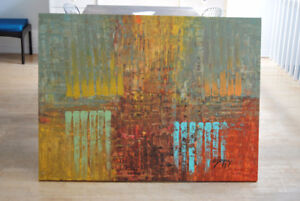 Grand tableau abstrait/ large abstract painting