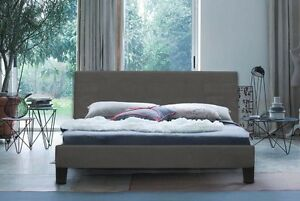 Charcoal Grey Queen Size upholstered bed. Perfect condition South Melbourne Port Phillip Preview