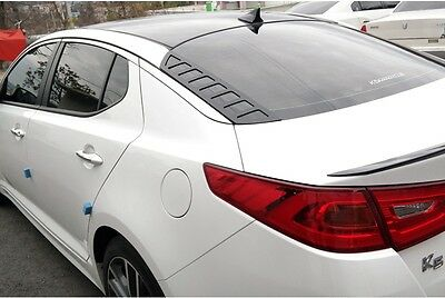 Rear Glass Acrylic Plate Mask Matte Black 2p for 2011 2015 Kia Optima K5