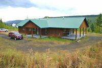 3 Bedroom Rancher on 8 Acres with Quesnel Lake Views!