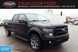 2014 Ford F150 4x4 Supercrew Fx4 with Nav, htd & cld front seats