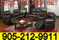 NO TAX 4PCS RECLINER SECTIONAL SET $1199
