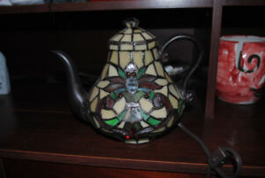 tiffany style teapot light