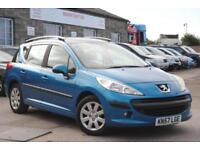 2007 (57) PEUGEOT 207 SW ESTATE BLUE PETROL 1.4 MANUAL 5 DOOR 94 BHP