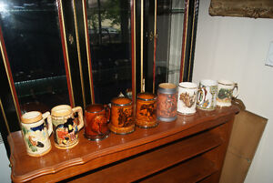 COLLECTION OF 11 VINTAGE BEER STEIN MUGS