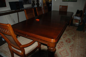 lexington furniture dining table with eight chairs,high grade ch