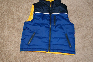 TOMMY HILFIGER Reversible Vest Royal Blue /Yellow Size 2 Years