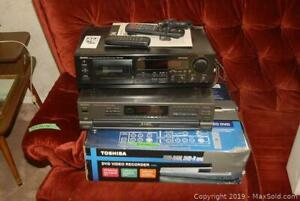DVD Recorder, CD Player And Cassette Tape Deck B