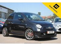 2009 ABARTH 500 1.4 TURBO 3 DOOR 135 BHP BLACK PETROL MANUAL - FULL RED LEATHER
