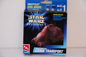 AMT ERTL STAR WARS EPISODE I SNAPFAST MINI MODEL Large Transport