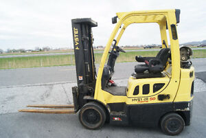 CHARIOT ELEVATEUR,FORKLIFT,S\S,PROP, HYSTER S50FT