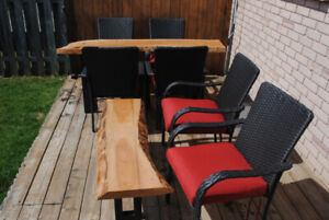 LIVE EDGE OUTDOOR FURNITURE (TABLES ONLY)