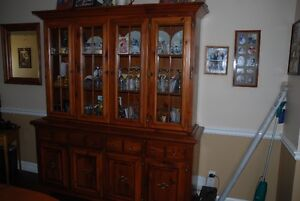 Hutch, Dining table and chairs