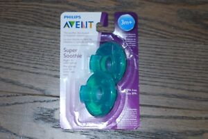 PHILIPS AVENT 2PK SUPER SOOTHIE PACIFIERS 3M+