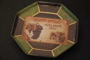 """Glass dish """"Country Cottage Pure Grape Jelly est. 1901"""""""