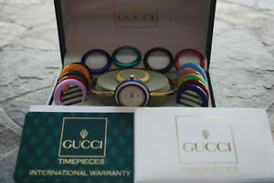 Vintage GUCCI Bangle Watch including Diamond Cut Bezel!!