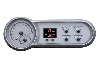 Dakota Digital 53 54 Chevy Car Customizable Analog Gauge System Silver HDX-53C-S