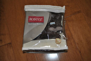 Robeez Brand Soft Sole Booties Brown 6-12 Month Size