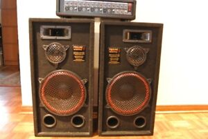 Speakers with power mixer