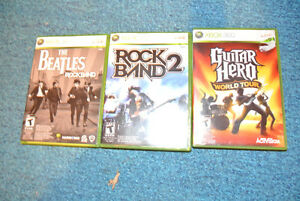 XBOX 360 Rock Band Instrms. (guitars, drums, case, mic, games) Kawartha Lakes Peterborough Area image 5