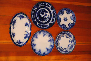 Collection of Antique Flow Blue