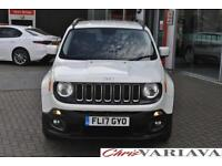 2017 Jeep Renegade 1.4 Multiair Longitude 5dr DDCT Petrol white Automatic