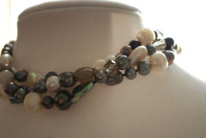 Multicolour Pearl Necklace-SOLD