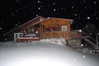 Log Home, Hobby Farm, with Pond, Stable, Waterview/Beach Access
