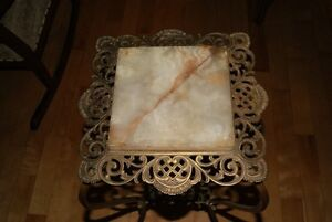Antique Victorian PLANT STAND Brass & Marble - gorgeous ! West Island Greater Montréal image 3