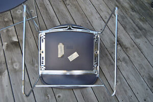 Mid-Century Chrome Purple Plastic Stacking Chairs~Steelcase x4 Belleville Belleville Area image 7