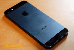 Black iPhone 5 16 GB 8/10 condition locked to rogers/fido/chatr Kitchener / Waterloo Kitchener Area image 1