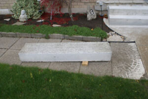 Excellent condition, cement step, 5 ft long.