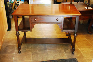 SOLID WALNUT LIBRARY DESK