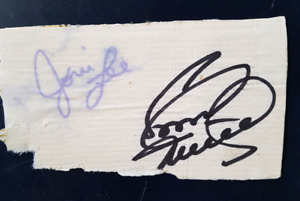 Conway Twitty and Joni Autograph