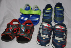 BOYS Cars McQueen RUNNING shoes size 8, Sandals toddler