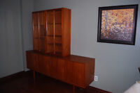 Teak Credenza/Sideboard and Display Cabinet